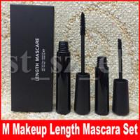 rimel de fibra 2pcs al por mayor-M Eye Makeup 3D Fiber pestañas Longitud Mascara 2pcs set Grueso Impermeable fibra Cool black maquillaje rimel