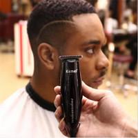 berber saç düzeltme makinesi toptan satış-Profesyonel elektrikli tak ve çalıştır saç kesimi kaygan geri berber makası yazı styling saç düzeltici kesici makinesi saç