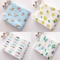 Wholesale sleeping beds resale online - Newborns Muslin Bamboo Blanket Baby Muslin Wraps Swaddle Infant Cotton Receiving Bedding Bath Towel Sleeping cart covers
