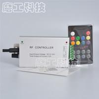 müzik rf uzaktan kumandalı rgb toptan satış-18 Anahtar RGB Led Müzik Kontrol DC12V 24 V Ses Ses 3 Kanal * 4A 12A RF 433.92 mhz Kablosuz Uzaktan Kumanda Şerit Işık