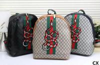 Wholesale popular boys backpacks resale online - High quality New arrival men women s Backpack Outdoor Sport Backpack Cross Body Shoulder Bags bee tiger snake fashion popular bags GG214