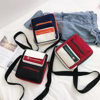 Wholesale travel phone holder resale online - 3styles contrast color letter shoulder bag ins fashion crossbody bag canvas sport bag outdoor travel phone holder FFA2451