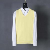 ingrosso mens polo v collo-Polo maglia maglione mens maglia maglione di lusso cavallo ricamo mens pullover camicia con scollo av maglia maglioni Golf maglione maglia D30