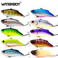 Wholesale vibe baits for sale - Group buy WATERBOY cm16 g VIB Lure Hard Artificial Fishing Vibe Lipless New Plastic Vibration Hard Noisy Rattle Sinking Vibrator Bait