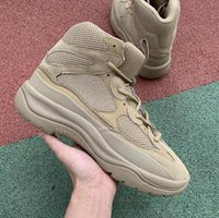 botas estilos homens venda por atacado-Kanye West Season 6 Desert Rat Bota 6s Grafite militar preto Estilo Homens Seankers formadores 3M reflexiva dos homens do desenhista Martin botas