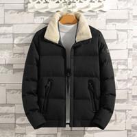 Uomo Inverno piumino corto Cotone Giovane Velvet Jacket risvolto collo spesso Wam Mens Outerwear Coat