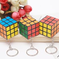 Wholesale metal man toy for sale - Group buy Colorful x3x3 Magic Cube Mini Speed Rubik Puzzle Keychain Women Men Charm Key Ring Game Intelligence Toy Gift