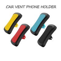telefon auto magnethalter großhandel-Magnetische Autotelefonhalter Universal Air Vent Halterung Handyhalter Ständer Für iPhone Xs X 8 Magnet Autohalterung Halterung