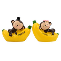 Wholesale monkey decoration dolls resale online - LEEPEE Love Alphabet Monkey Banana Monkey Doll Car Styling Cartoon Dashboard Decoration Interior Accessories Car Ornament