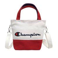 lona bordado bolsas venda por atacado-Lona Campeões Sacos De Acampamento Container Admissão Bolsa Mulheres E Homens Bordados Carta Cores Misturar Conveniente Venda Quente 14 5 mg f1