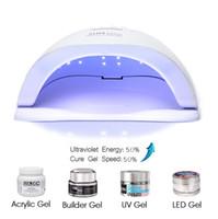lâmpadas uv venda por atacado-Sun 5x plus uv lâmpada led para unhas secador 54 w lâmpada de gelo para manicure gel unhas lâmpada de secagem para gel verniz