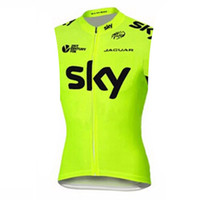 Wholesale sky cycling online - SKY outdoor Breathable cycling jersey summer sleeveless MTB Pro Team sportswear Bicycle Clothing Maillot Ropa Ciclismo