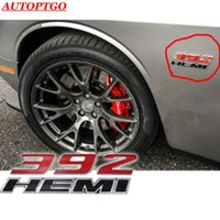 ABS Black 6.4L HEMI Car Trunk Fender Side Emblem Badge Decal Sticker 345 392