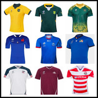 copa do mundo jerseys usa venda por atacado-2019 Japão Copa do Mundo EUA Itália camisa de rugby Georgia RWC rugby Jerseys Rugby League Austrália camisas da África do Sul