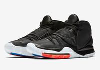 воздушная спортивная обувь цена оптовых-Горячие дети Kyrie 6 Jet Black баскетбольная обувь для продажи с коробкой новый Irving 6 баскетбольная обувь спортивная обувь оптовые цены US4-US12