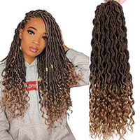 Wholesale curly braiding hair extensions for sale - Group buy Dorsanee Goddess Faux Locs Crochet Hair Braids Wavy Synthetic Braiding Hair Deep Wave Curly Ends Loc Hair Extension New Style Fashion