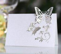 ingrosso i nomi di disegno del taglio del laser-2019 Butterfly Table Name Cards Segnaposto Festa di matrimonio Bomboniera Decorazione Farfalla Laser Cut Design Decorazione per la tavola