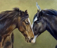 Wholesale art horses oil painting for sale - Group buy e016 animal art two horses Home Decor Top Handpainted Handcrafts Art Oil Painting HD Print Art Oil Painting On Canvas Wall Pictures