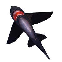 yetişkin siyah şapka toptan satış-Uzun Renkli Kuyruk Ile güçlü Siyah Köpekbalığı uçurtma! Büyük Acemi Köpekbalığı Uçurtmalar Çocuklar Ve Yetişkinler Için Dize Ve Kolu Ile Gel