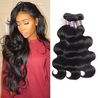 Wholesale body wave hair weaves for sale - Group buy Curly Brazilian Human Hair Bundles Straight Body Wave Unprocessed Virgin Peruvian Hair Water Wave Deep Loose Wave Bundles Deal