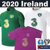 equipos de fútbol al por mayor-19 20 Camiseta de fútbol Ireland Copa Europa euro 2019 2020 Equipo nacional Irlanda equipo camisetas de fútbol local visitante Calidad tailandesa hombres niños conjunto uniformes