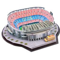 brinquedos educativos ursinhos venda por atacado-Crianças 3D Estádio Campo De Futebol Modelo 3 Anos DIY Puzzle Multicolor Toy