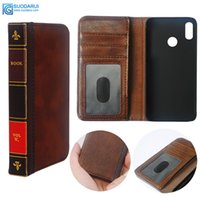 Wholesale asus cell phones resale online - Flip Leather cell Phone Case for ASUS Zenfone Max M2 Cover Wallet Retro Bible Vintage Book Business Pouch