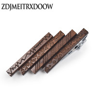 Wholesale necktie tie bar for sale - Group buy ZDJMEITRXDOOW Tie Clip Classic Style Pin Clasp Bar Wood Male Business Necktie Clip Clasp Metal Men Jewelry Tie Bar