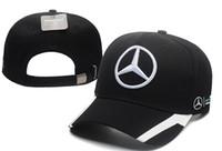 Wholesale trucker cap resale online - Mercedes Benz cap bone gorras Snapback Hat F1 Champion Racing Sports AMG Automobile Trucker Men Adjustable Golf Cap Sun Hat