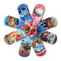 tierstiefel großhandel-Neue Gedruckt Cartoon tier Kinder Socken jungen mädchen shorts Socke Baby Booties Socken Kleinkind Socken Für Kinder mischfarbe A617