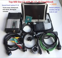 Wholesale car hdd resale online - Best Stable MB Star C5 SD Conenct c5 with laptop cf Toughbook diagnostic PC with Soft ware HDD For sd C5 MB car truck diagnosis
