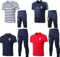 bc1de1143 Wholesale french jerseys online - 2star french short tracksuit soccer  jersey Training suit soccer wear short