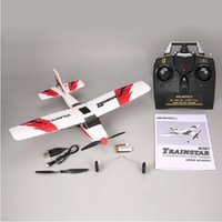 Wholesale 2.4ghz drone resale online - 2020 NEW VOLANTEX V761 Ghz Mini Remote Control Airplane Fixed Wing Drone Trainstar CH Axis Plane RTF for Kids Gift Present