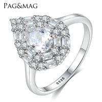 senhoras corpo inteiro venda por atacado-PAGMAG elegante design de luxo gota de água S925 de corpo inteiro de prata pura com anel de 3A zircão da senhora elegante e requintado anel de pulseira