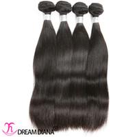 chinese gerade reine haarverlängerungen großhandel-Menschliches Haar Bundles Gerade Virgin Hair Extensions Malaysian brasilianischen indischen peruanischen mongolischen Chinese European Haar-Webart 3 oder 4 Bundles