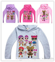 Wholesale new hoodies kids resale online - new Cartoon Doll Girls Boy Hoodies Autumn Spring Kids Long Sleeve Sweatshirts Children hooded Outwear Pullover Top Clothing Hoody sale