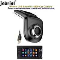 скрытый андроид dvr оптовых-Jabriel Hidden HD 1080P автомобильная камера USB вождение рекордер видеорегистратор Android большой экран навигации ADAS Starlight Night Car Dvr