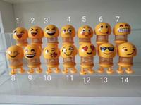 pacote de sorriso venda por atacado-Xiaohuang Ren Primavera Sorriso Rosto Expressão Pacote Shaking Cabeça Cara Disposição Expressão Veículo Interessante Descompressão Brinquedos