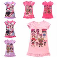 kinder pyjamas prinzessin großhandel-Kinder Pyjamas Sommerkleider Mädchen Baby Pyjamas Baumwolle Prinzessin Mädchen Nachthemd Startseite Cltohing Mädchen Nachtwäsche