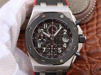 42mm ring großhandel-JF 26470 Montre DE Luxe Serie Stahlschale Keramik Ring.42mm 12H Zeit 3126Modell Uhren Top schwarz und rot Kautschukband Designeruhren