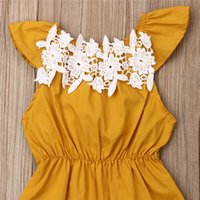 Wholesale laces clothes china for sale - Group buy 0 M Baby Girl Clothes Flower Summer Baby Rompers Headband Sleeveless Jumpsuit New Born Baby Clothes China Outfits