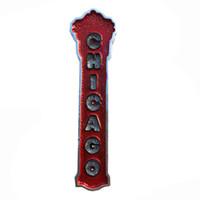 piece tiermagneten großhandel-Lychee Amerika Chicago Kühlschrankmagnet Land Brief Kühlschrank magnetischen Aufkleber Hauptdekoration Travel Souvenirs