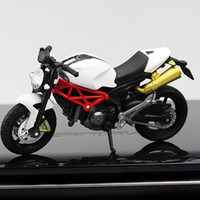 Wholesale car scale 18 resale online - Simulation Motorcycle Model Toy Scale Motorbike Collection Decoration for Children Car Styling