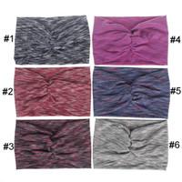 kızlar el bantları toptan satış-Kadınlar Kız Için altı Renk Geniş El Bandı Bohemia Stil Handbands Yüksek Dereceli Kar Tanesi Desen Ter Bandı Yaratıcı 4np BB
