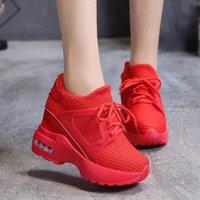 4976a210477 zapatillas de deporte rojas del talón de cuña al por mayor-Venta caliente  2019 Rojo