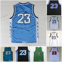novo sportswear venda por atacado-New College NCAA # 23 Novo Basketball Jerseys Bordados Sportswear Jersey S-3XL 44-56 frete grátis Barato