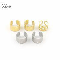 Wholesale plain earrings for sale - Group buy BoYuTe Pieces Simple Plain Metal Brass Stainless Steel Ear Cuff Earrings Jewelry Adjustable Ear Cuff
