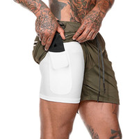 Wholesale bamboo clothes resale online - Men in Running Shorts Jogging Gym Fitness Training Quick Dry Beach Short Pants Male Summer Sports Workout Bottoms Clothing