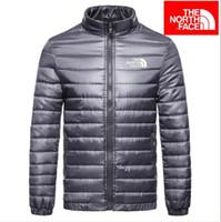 sıcak ince toptan satış-Sıcak Satış Erkek Bahar Sonbahar Aşağı Ceketler Ince Slim Fit Mont Pamuk-yastıklı Düz Renk Uzun Kollu Ceket giyim Beş Renkler Iyi