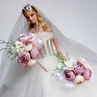 corsage armbänder großhandel-2019 neue Hochzeit Blume Brautjungfer Braut Handgelenk Corsage Corsage Woven Cuff Bracelet für Hochzeit Prom Zubehör